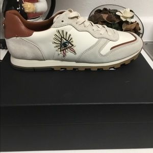 Coach evil eye tennis shoes size 9